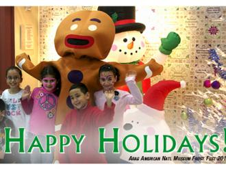 Happy kids with Gingerbread Man