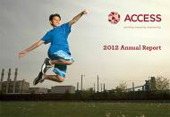Cover image of ACCESS 2012 Annual Report.