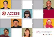 Cover image of ACCESS 2013 Annual Report.