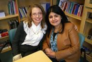 Program Supervisor Juvaria Javaid with Kathleen